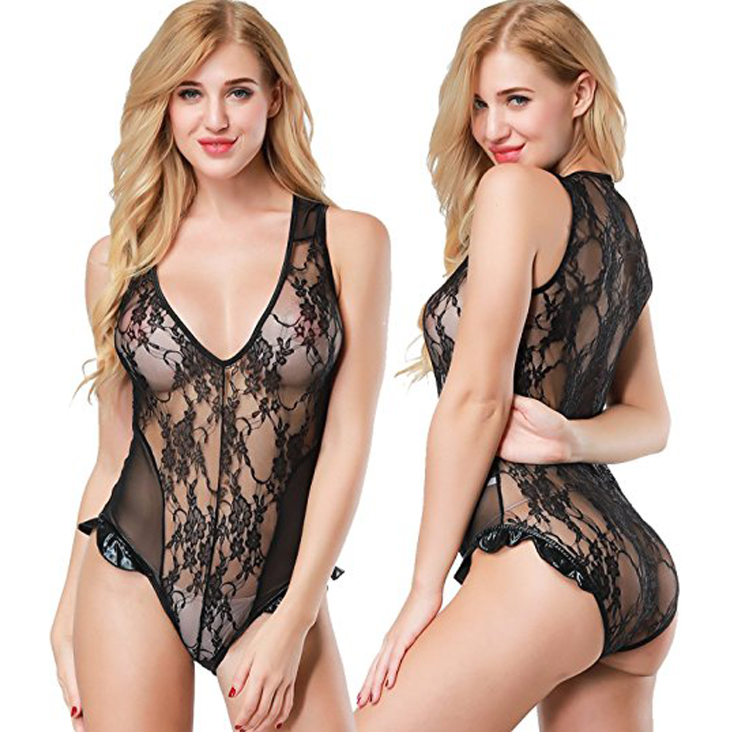 Sexy Lingerie One Piece Lace Babydoll Bodysuit
